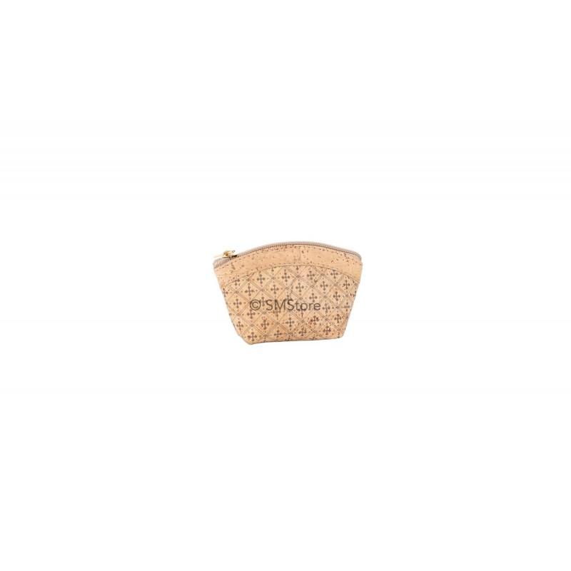 Cork coin purse with a zipper