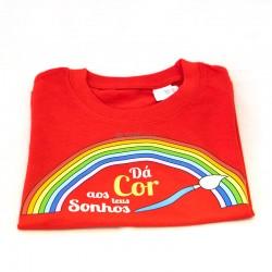 """T-shirt """"Dá cor aos teus"""